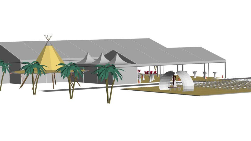 gradniski shatri s palmi za svatba agencia
